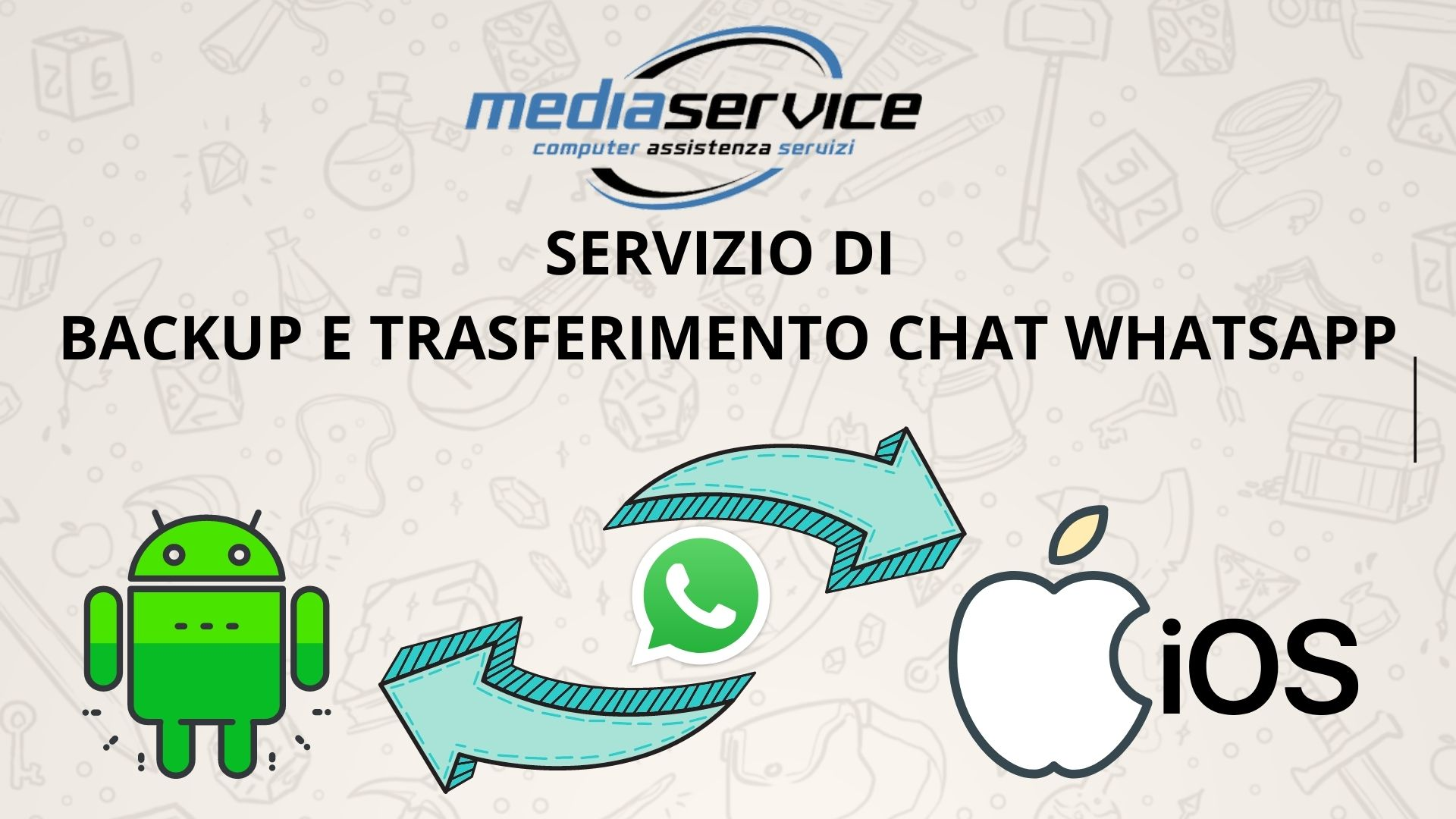 Servizio di trasferimento chat Whatsapp da Android ad Apple